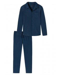 Pyjama doorknoop flanel Schiesser