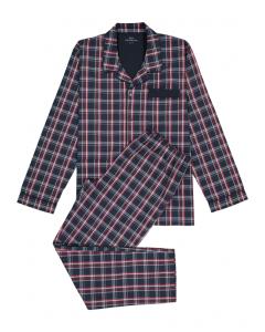 Heren pyjama Götzburg doorknoop