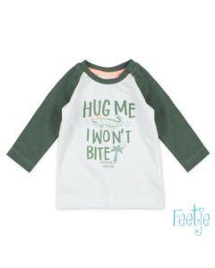 T-shirt Feetje hug me bit u later