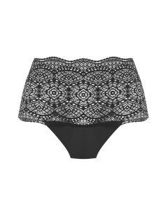 Slipje maxi Fantasie lace ease invisible stretch zwart