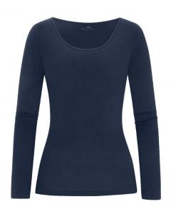 T-shirt met lange mouw Mey Cotton pure night blue