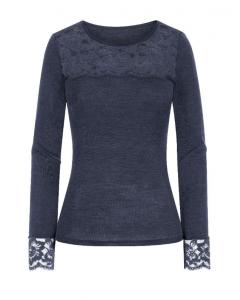 T-shirt Mey wool en Lace graphite