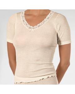 T-shirt korte mouw Nina von C. woolsilk