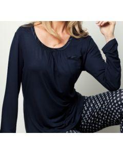 Pyjama t-shirt met lange mouw Pastunette