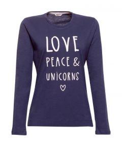 Pyjama t-shirt met lange mouw Esprit Alice
