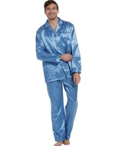 Pyjama doorknoop satijn Robson heren