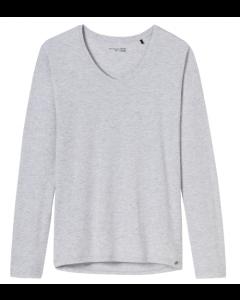 T-shirt lange mouw en v-hals Schiesser mix+relax