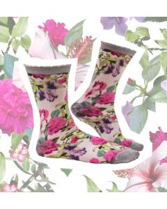 Sokje Sock my feet flowers