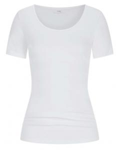T-shirt met korte mouw Mey Cotton Pure wit