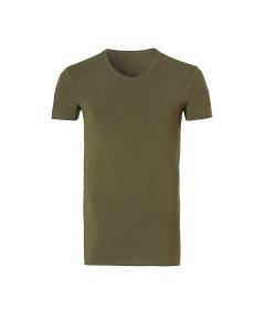 T-shirt met v-hals Ten Cate bamboo groen