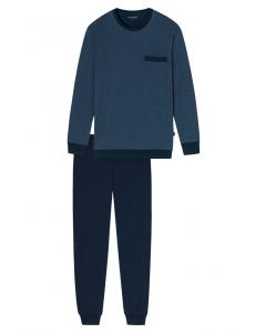 Pyjama met boorden Schiesser jeans check