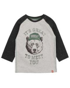 T-shirt met lange mouw Feetje bear hugs